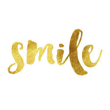 Gold Quotes Delectable Smile Gold Foil Message Gold Foil Glitter Inspirational Quote On A