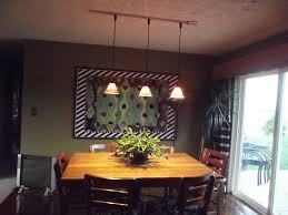 Dining Room:Simple White Track Lighting For Dining Room With Dark Green  Wall Color And