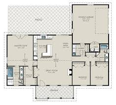 ranch style house plan 3 beds 2 baths