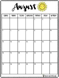 School Year 2019 2020 Monthly Planning Calendars