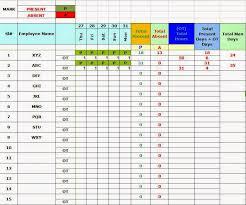 Employees Attendance Sheet Template Employee Attendance Sheet Insaat Mcpgroup Co