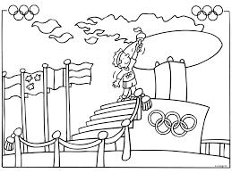 Kleurplaat Sporters Olympische Spelen Kleurplatenlcom