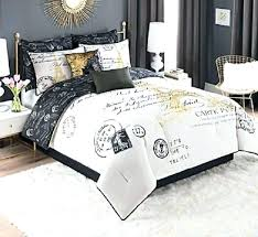 polka dot bedding queen size white and gold comforter set decor bedroom french black dotsheets