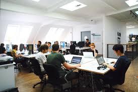 developer office. tech space developer area startup office w