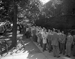University Of Michigan Students In Line To Buy Football