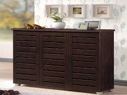 Amazon.com: Wholesale Interiors Baxton Studio Adalwin Modern and  Contemporary 3-Door Dark Brown Wooden Entryway Shoes Storage Cabinet:  Kitchen & Dining