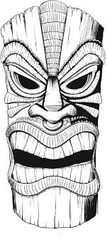 Small Picture tiki mask coloring pages