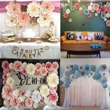 How To Make Paper Flower Backdrop 2 Shape Paper Flower Backdrop Wall Large Rose Flowers Diy Wedding