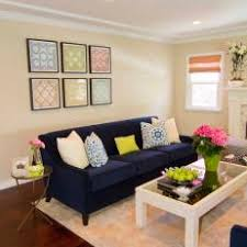 navy blue furniture living room. Neutral Transitional Living Room With Navy Blue Sofa Furniture