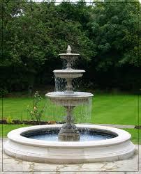 fountain garden. Medium Three Tiered Vermeer Garden Fountain Centrepiece-