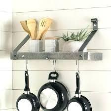 pot racks ideas handcrafted gourmet wall mounted rack reviews diy pan
