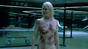 Tattoo Snake Lady from Westworld NAKED IN HER Birthday Suit.