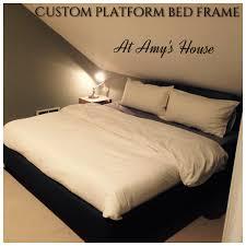 custom upholstered bed frame