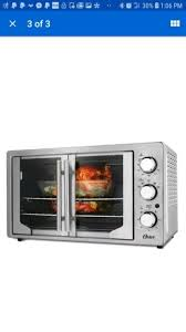 french door oven oster stainless steel large capacity countertop convection new