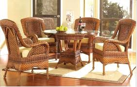 lovely wicker dining sets chairs rattan ding wicker dining room furniture with rattan dining chair and round dining table also glass table top decor idea x