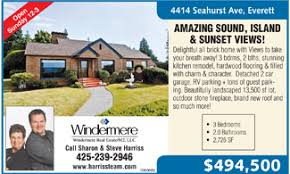 real estate ad real estate homes heraldnet com everett and snohomish county