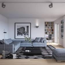 Woonstijl Interieur Impressie Woonkamer Met Grijze Moderne Hoekbank