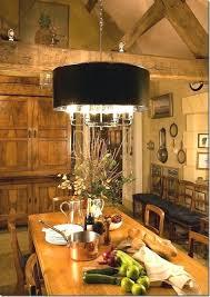 black drum shade chandelier