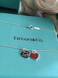 tiffany mini double heart tag pendant