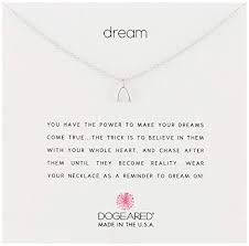 dogeared reminders dream sterling silver wishbone charm necklace