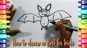 by easy kids drawing tutorial how to draw a bat for kids easy easy kids drawing tutorial