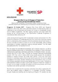 news releases singapore polytechnic singapore polytechnic and singapore red cross signs mou to launch diploma plus certificate in humanitarian affairs