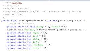 Java Vending Machine Best Java Project Kyle Liechty's Senior Project Portfolio