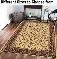 ivory fl oriental style area carpet rugs rug runners 2 3 5 7 8 10 11