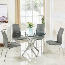 round glass dining table. Round Glass Dining Table A