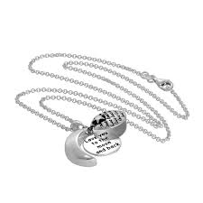 sterling silver opening moon star love pendant on 18 inch chain jewellerybox co uk