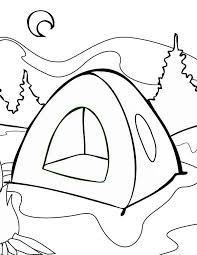 Small Picture Summer Tent on Summer Camp Coloring Page Download Print Online