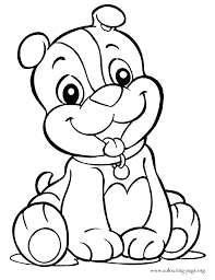 Puppy Color Pages Puppy Coloring Pages Printable Page Little Pet