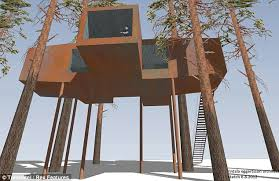 Compelling Worlds Tallest Treehouse For Ministers Tree House Front Largest Treehouse In America
