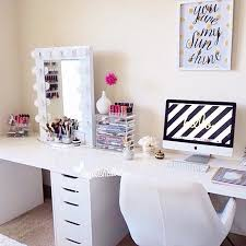 desk and vanity combo. definitely the setup i would want. one efficient space for getting work done and · vanity deskteen desk combo pinterest