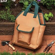 super durable garden tote bag with pockets by garrett wade