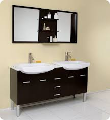 bathroom vanity with sink and mirror. fresca - vetta double sink bathroom vanity with espresso finish and mirror