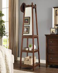 Coat Rack With Mirror Roundhill Furniture Vassen Swivel Coat Rack With 100Tier Storage And 11