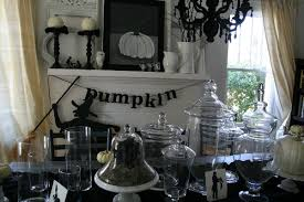dazzling room with minimalist halloween house decor using black