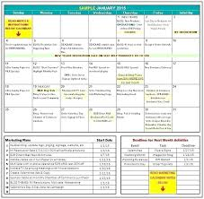 Professional Calendar Template Monthly Editorial Calendar Template
