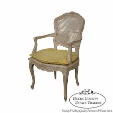 french cane chair. Vintage French Louis XV Style Painted Arm Chair W/ Cane