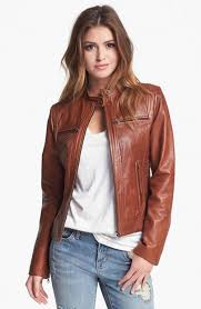 bernardo tab collar leather jacket regular petite nordstrom exclusive coat jacket and clothing