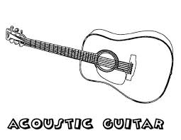 Small Picture Acoustic Guitar is a Musical Instruments Coloring Pages Bulk Color