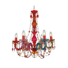multi color plastic crystal chandelier view larger