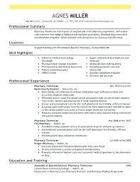 Pharmacy Technician Resume Objective Amazing Hospital Pharmacy Technician Resume Entry Level Pharmacy Tech Resume