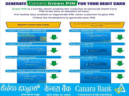 How To Generate Canara Bank Green Pin Online