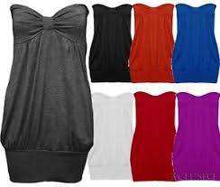 plus size tube tops new womens plus size strapless boob tube tops long waist band tunics