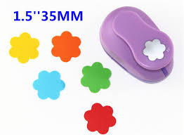 Flower Paper Punch Tool 38mm Embossing Device Flowers Paper Cutter Crafts Scrapbook Kid