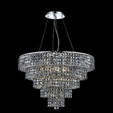 elegant 2037d30c ss rc maxim 30 large 17 light silver shade crystal chandelier in chrome ele 2037d30c ss rc
