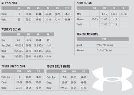 Under Armour Youth Medium Size Chart Under Armour Gloves Sizing Chart Intended For Under Armour