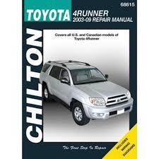 amazon com chilton toyota 4runner 2003 thru 2009 repair manual amazon com chilton toyota 4runner 2003 thru 2009 repair manual 68615 automotive